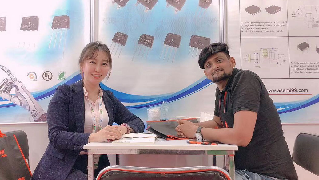 ASEMI as exhibitor attends the Electronica India 2019 in Noida
