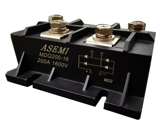 MDQ200-16/MDQ175-16/MDQ160-16ASEMI Single-phase rectifier module