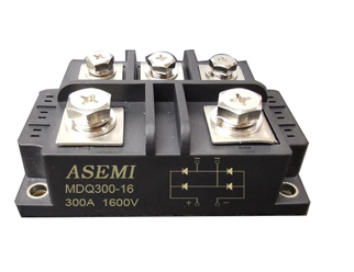 MDQ300-16/MDQ250-16 ASEMI  Single-phase rectifier module