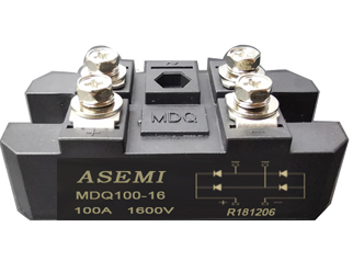 MDQ100-16/MDQ75-16/MDQ60-16 ASEMI  Single-phase rectifier module