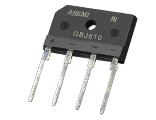 GBJ610,GBJ608,GBJ606,GBJ604,GBJ602 ASEMI  Bridge Rectifier